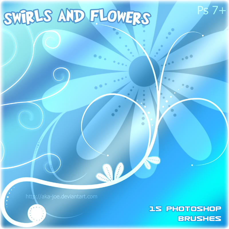 Swirl and Flower Brushes by Aka-Joe