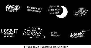Text Icon Textures #1