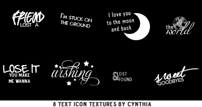 Text Icon Textures #1 by gotasecret-xx