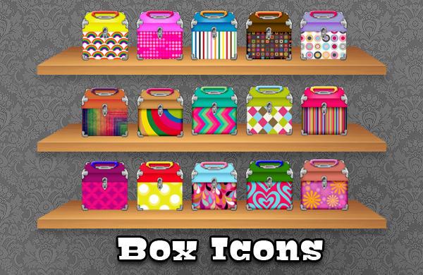Pattern Box Icons by princessang2644