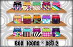 Pattern Box Icons - Set 2