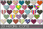 33 Heart Icons