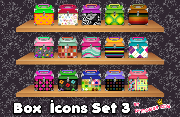 Box Icons Set 4 by princessang2644