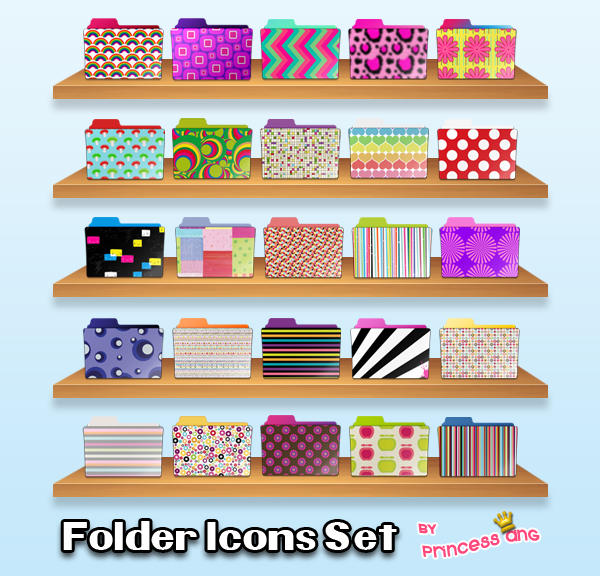 25 Folder Icons by princessang2644