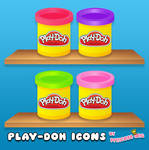 Play-Doh Icons