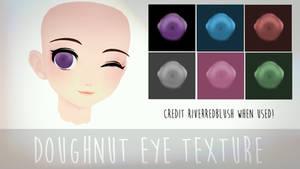 [MMD] Doughnut Eyes Texture DL