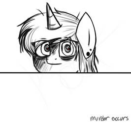 me at school by TheAngriestHorse