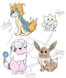 Soul Silver Team (Currently) by TheAngriestHorse