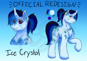 Ice Crystal's Official Redesign! by TheAngriestHorse