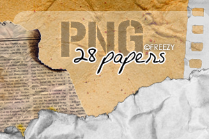 Papers PNG by freezinka