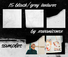 15 black grey textures by xsleepingswanx