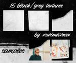 15 black grey textures
