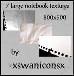 7 large notebook textures