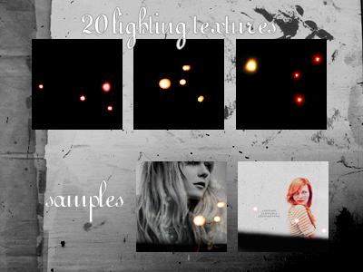 20 Lighting Textures by xsleepingswanx