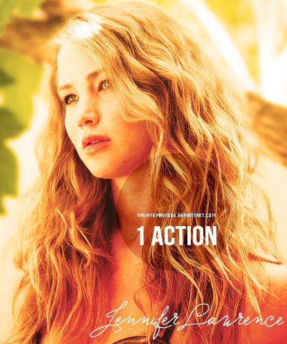 Action JenniferLawrence by RadiateMadness