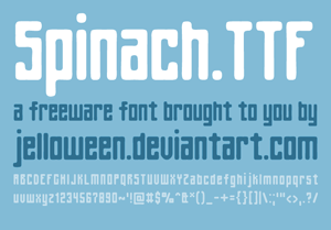 font spinach
