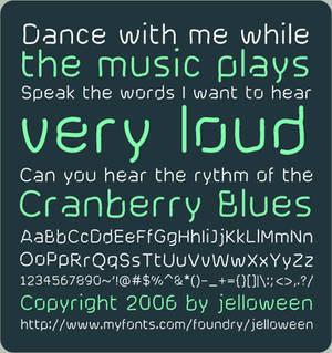 Font: CRANBERRY BLUES - free