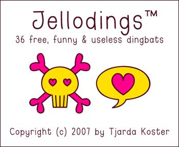 Font: JELLODINGS - free by jelloween