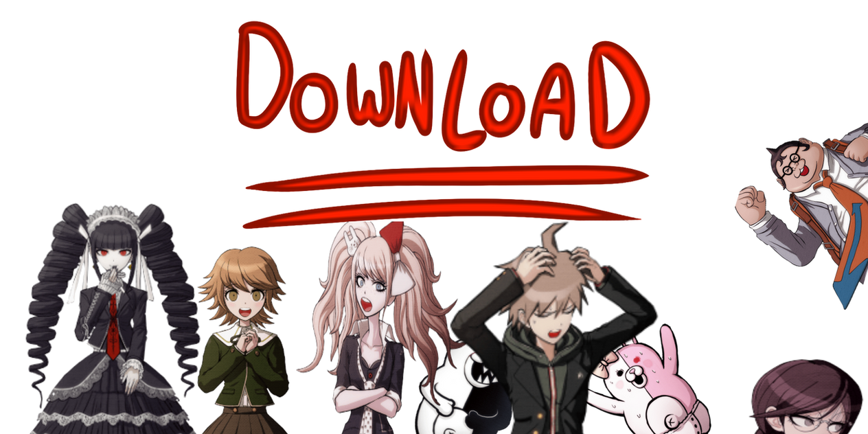 DANGAN RONPA COMPLETE SPRITE COLLECTION ZIP!*** by HamtaroFlower on