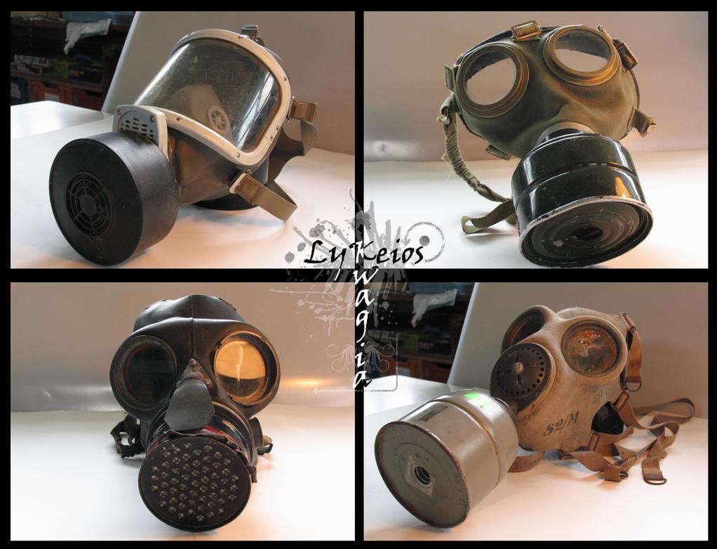 Gas Mask Collection by kiwitiki