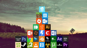 Flat Square Icons