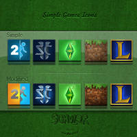 5 Simple Games Icons +5 Bonus by Schulerr