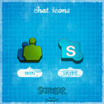 2 Chat Icons