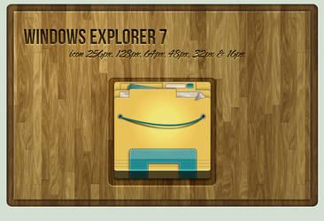 Windows Explorer 7 Icon by Schulerr