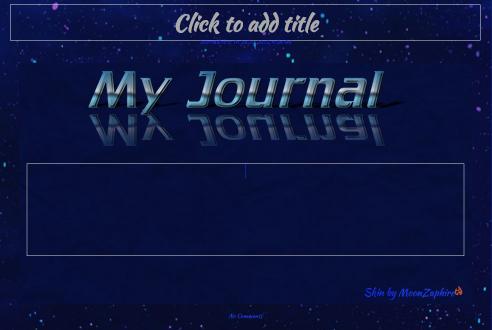 Blue Journal Skin by VladNoxArt
