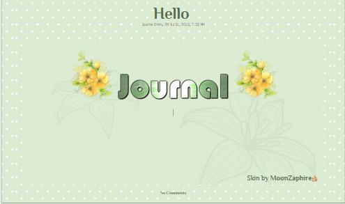 Green Flower Journal skin by VladNoxArt