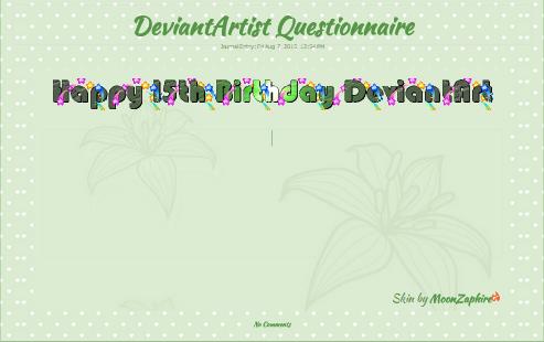 DA birthday Journal skin animated by VladNoxArt