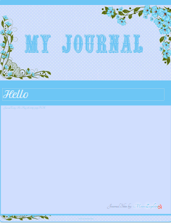 Blue Flower Journal Skin by VladNoxArt