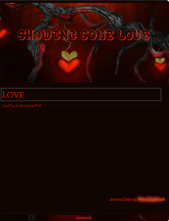 Showing some love Journal Skin by VladNoxArt