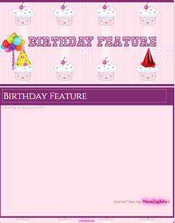 Birthday Journal Skin by VladNoxArt