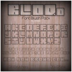 BLOQd Font Brush Pack