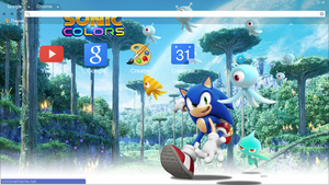 Sonic Colors Chrome Theme (1360x768)