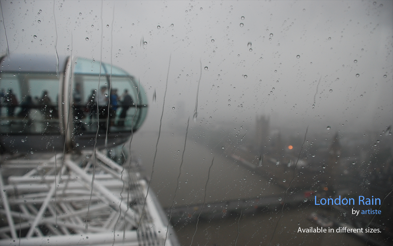 London Rain Wallpaper by photoartiste