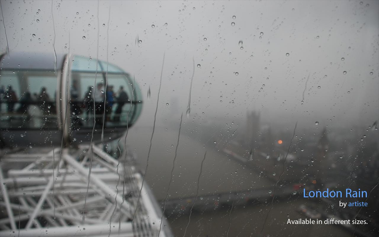 London Rain Wallpaper by photoartiste
