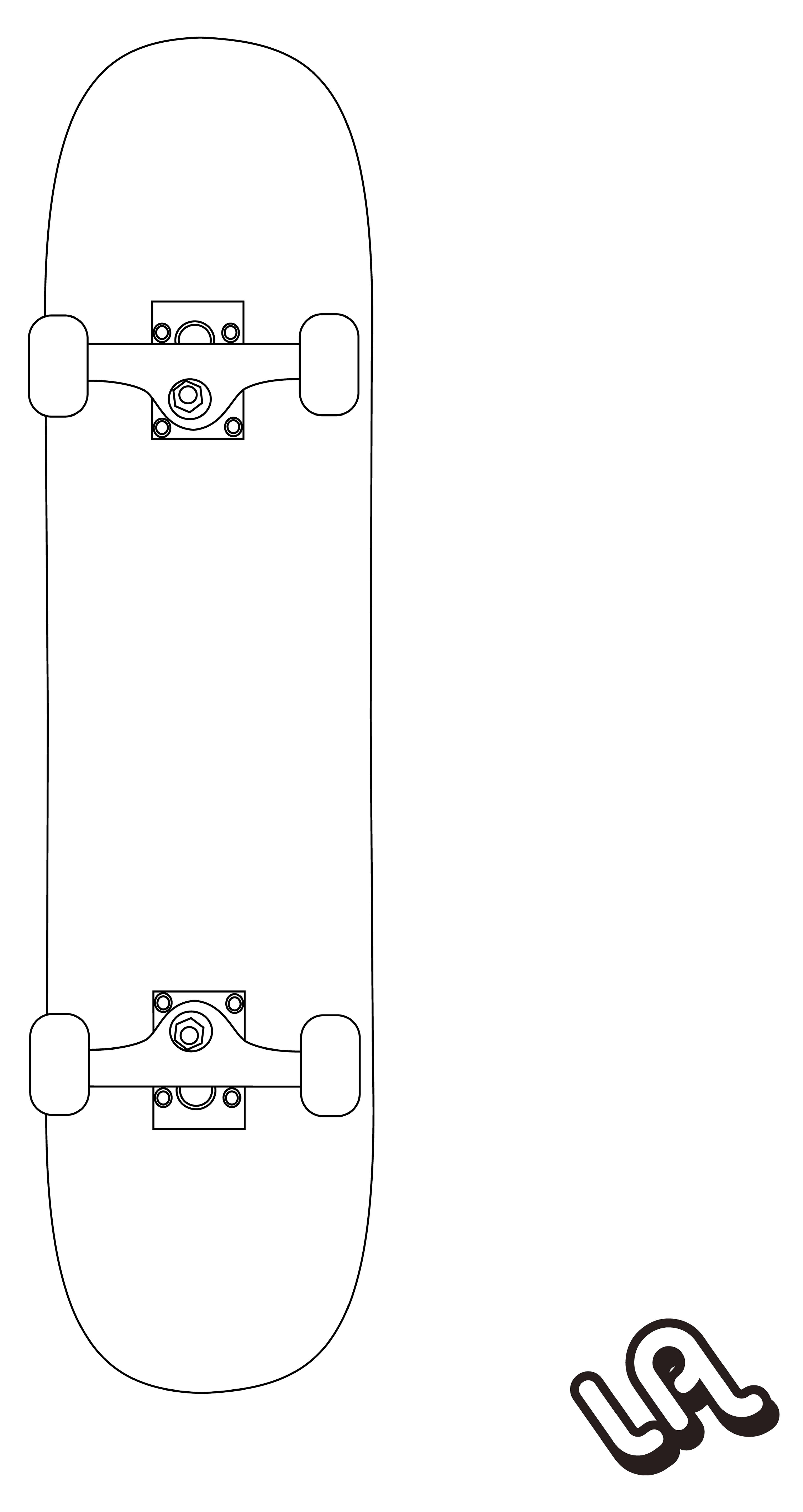 Skateboard vector by luther1000 on deviantart for Longboard template maker