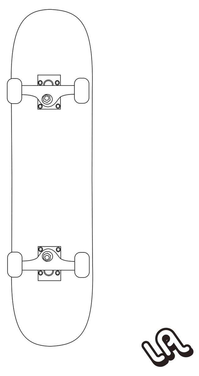 Skateboard vector by luther1000 on deviantart for Longboard template maker