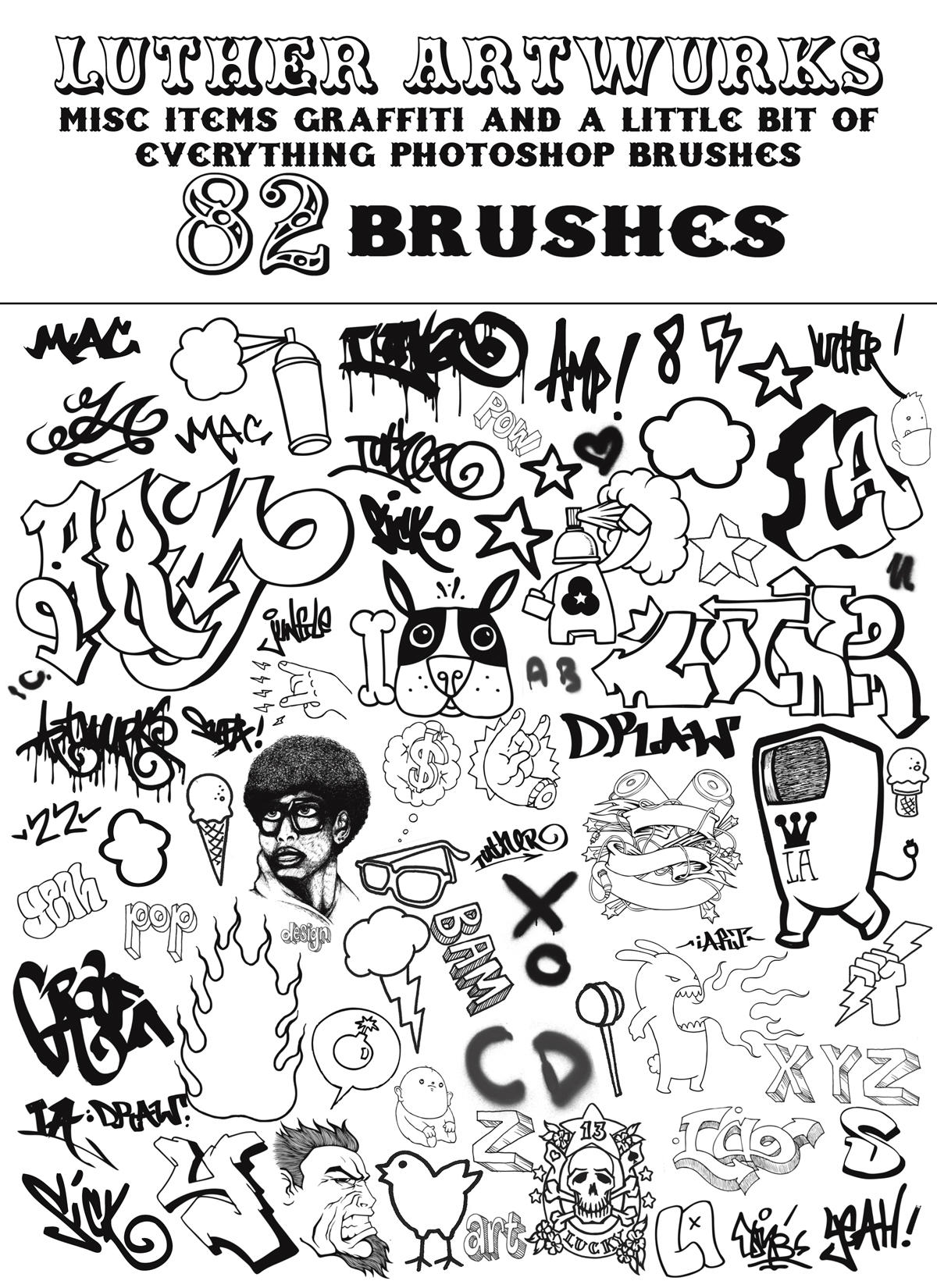 LA Misc Graffiti Brushes by luther1000