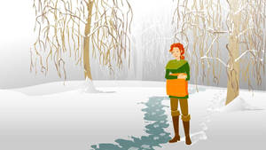 WIP - animated Wynter in snow