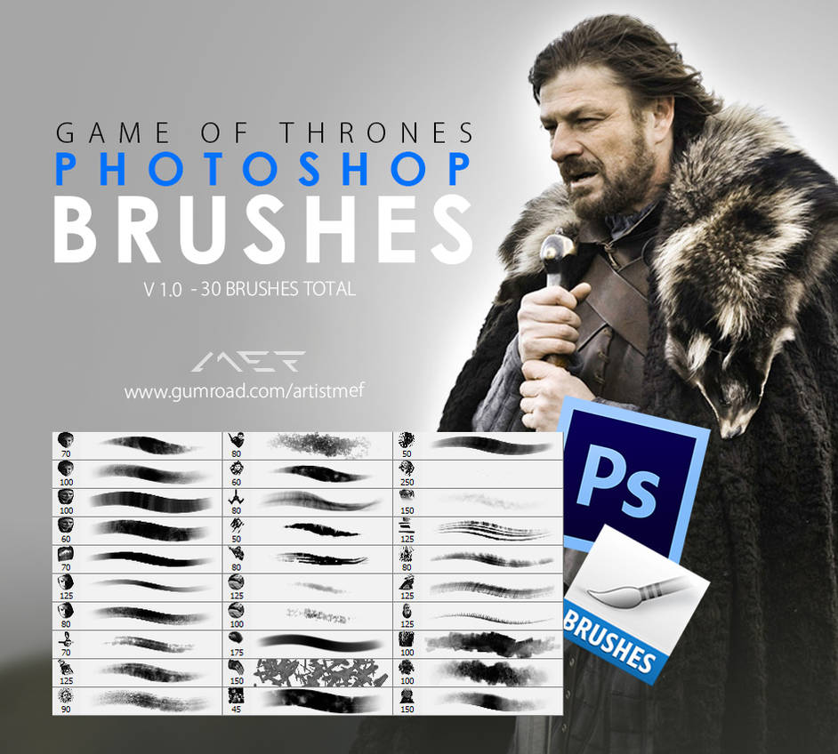 Game of Thrones Photoshop Brushes by ArtistMEF