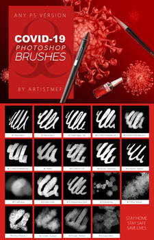 Coronavirus COVID-19 Free Photoshop Brushes