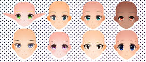 CM3D2 Faces Pack 3 and 4