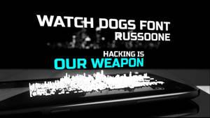 Watch Dogs Website Font: RussoOne