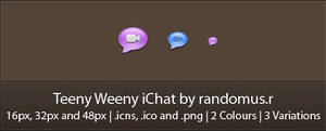 Teeny Weeny iChat by randomus-r