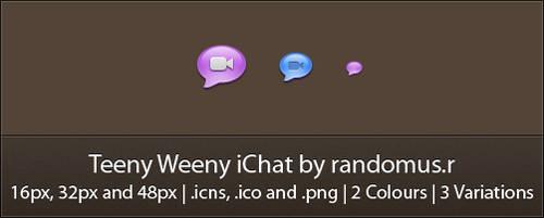 Teeny Weeny iChat by randomus-r