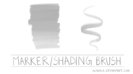 Marker /Shading Brush (Photoshop) by altback