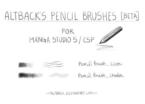 Altback's Pencil Brush Pack [BETA] for CSP